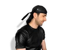 New soft REAL leather bandana head rag cap