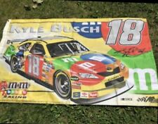 Kyle Busch Fans! Signed Banner And Decals! By M&M, Signed Photo! Nice Lot!