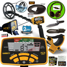Garrett ACE 300 Metal Detector Waterproof Coil, Headphones & Edge Digger & More!