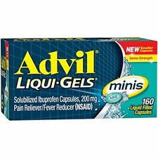 Advil Liqui Gels Minis Pain Reliever Fever Reducer 160 Capsule 160 Each