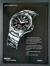 Seiko Kinetic Auto Relay Watch Magazine Advert #B3898