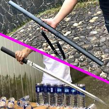 Very Sharp Spring Steel Samurai Battle Straight Knife Saber Ninja Sword Katana