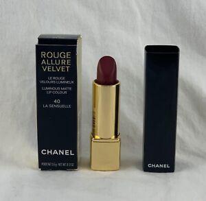 CHANEL ROUGE ALLURE VELVET Luminous Matte Lip Colour ~ 40 LA SENSUELLE ~ .12 Oz
