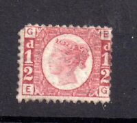 GB QV 1870 1/2d rose SG49 Plate 5 mint MH WS20801