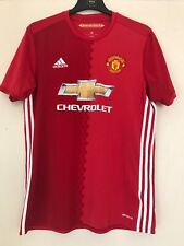 Manchester United Football T Shirt Home Size L Large Red Chevrolet