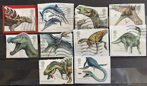 2013 Gb Dinosaurs Used Stamp Set Sg 3532 3541