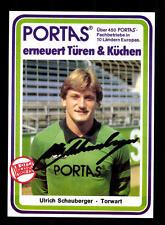 Ulrich Schauberger Autogrammkarte Kickers Offenbach 1983-84 Original Si+A 161318
