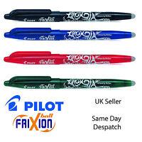 PILOT friXion ROLLERBALL CLICK ERASABLE PENS REFILLS 0.7MM BLACK BLUE RED GREEN