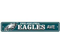 "Philadelphia Eagles Ave Street Sign 4""x24"" NFL Football Team Logo Man Cave"