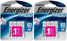 16 (2x8) Energizer Ultimate Lithium AAA L92SBP Batteries 2037