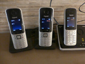 Gigaset S795 Trio - Cordless home phone, answerphone + 2 additional handsets