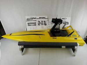 """Vintage RC Pro Boat Shockwave 55"""" Speedboat Zenoah G-23 Gas Engine RTR COMPLETE!"""