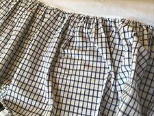 Tommy Hilfiger Elizabeth Anne 2 Twin Bedskirts Blue White Windowpane Plaid Check