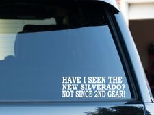 Have I seen the new SILVERADO?  funny ford powerstroke decal sticker