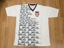 Ropa deportiva para hombre cuello en V Inglaterra todo Imprimir T-Shirt blanco de un tamaño = tamaño L