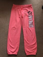 "Super Cozy Coral ""Dream"" Justice Joggers Girls Size 12"