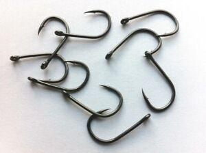 10 Teflon Carp Fishing Hooks, Micro Barbed, Size 10