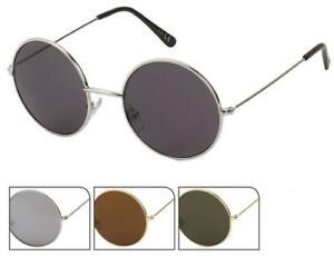 Sonnenbrille Round Glasses John-Lennon-Style 400 UV Metall getönt langer Steg