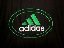 ADIDAS black green windbreaker classic track jacket lrg 1990s polyester retro
