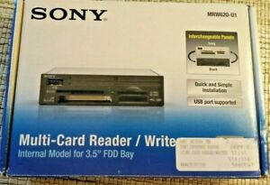 "Sony Multi-Card Reader / Writer Black MRW620 3.5"" Form Factor"
