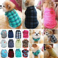 Small Pet Dog Warm Fleece Vest Clothes Puppy T-Shirt Sweater Winter Coat Apparel