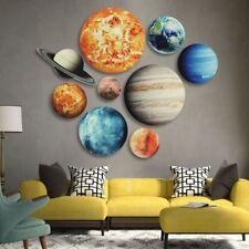 Fluorescent Wall Ceiling 3d Stickers Luminous Glow Dark Home Decor Kids Planets