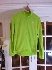 BTWIN Men Green  Full Zip Long Sleeve Cycling Jersey Back Pockets Size M