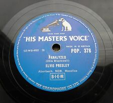 0558/ The KING ELVIS PRESLEY- Paralyzed-When my blue moon turns -R´n`R-Schellack