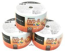 150 Sony DVD-R 16x Inkjet White Printable Disc 120 min 4.7gb Plastic In Wrap