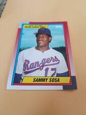 Sammy Sosa 1989 Texas Rangers #120 MLB DEBUT CHICAGO CUBS