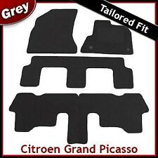 CITROEN C4 GRAND PICASSO Mk1 2006-2013 Tailored Fitted Carpet Car Mats GREY