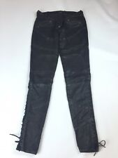 Ralph Lauren Womens Coated Lace Up Jeans Size 28