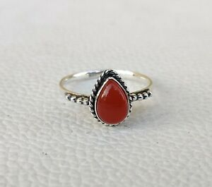 Carnelian  Ring 925 Sterling Silver Ring Handmade Ring Gemstone Ring  Ma06