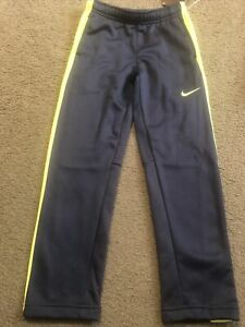 NEW Nike Therma-Fit Navy/Lime Green Athletic Pants Boys Size 7 NWT