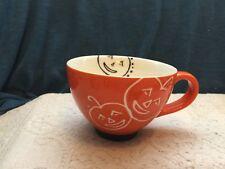 Starbucks Halloween Pumpkin Jack o Lantern Coffee Mug Cup 2007 10 oz