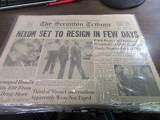 THE SCRANTON TRIBUNE - 8/8/74 - NIXON SET TO RESIGN IN FEW DAYS  - VG
