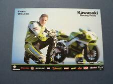 INFO FAN CARD CHRIS WALKER WEGRACE ROADRACE KAWASAKI RACING NO 9 FUCHS SILKOLENE