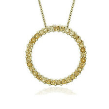 Genuine Citrine Eternity Circle Necklace ~ FREE Shipping