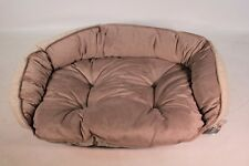 Bowsers Pet Products Crescent Dog Bed XLarge Taupe Herring Bone