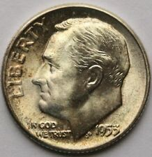1953 Roosevelt Dime in 90% Silver Choice BU Toned US Coin