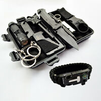 Outdoor Emergency Survival Gear Kit 10 In 1 SOS Case Camping Tactical Tools
