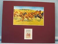 """""""Plains Warfare"""" painted by Frederic Remington honored by his own stamp"""
