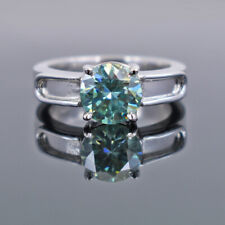 3.60 Ct Certified Natural Earth Mined Blue Diamond Ring! Unisex,Ideal Gift