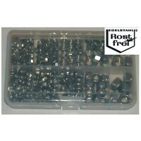 Edelstahlmuttern Set 380 Teile DIN 934/DIN985 A2 M4-M10 versandkostenfrei