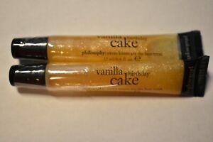 2 Pack - Philosophy Vanilla Birthday Cake Lip Shine - 0.4 oz -$20.00($10.00 ea)