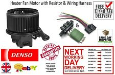 New Heater Fan Blower Motor & Wiring Harness & Resistor Vauxhall Corsa D 2006 >>