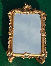 CADRE A POSER EN BRONZE (ou petit miroir), style Rocaille, XIXe. 18,5 x 12 cm
