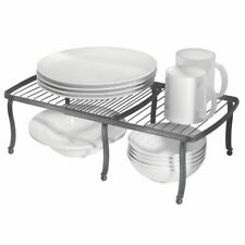 New listing mDesign Metal Expandable Kitchen Pantry Storage Shelf, 2 Pieces - Graphite Gray