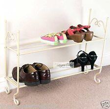 Generic Shabby Chic Vintage 2 Tier Cream Shoe Rack Stand Organiser(70 X 22 X 60)