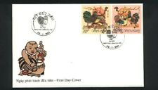 """VIETNAM, 1993, """"YEAR OF COCK"""" STAMP SET ON FDC. FRESH GOOD CONDITION"""